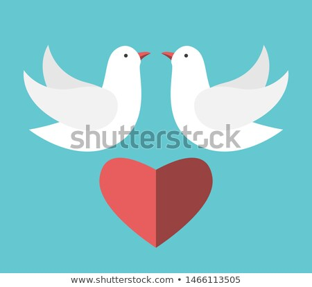 Flying сердцах свадьба прибыль на акцию вектора Сток-фото © beholdereye