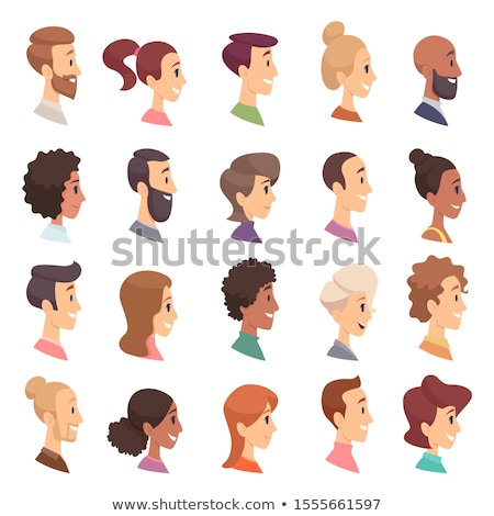 Male cartoon face profile Stock photo © Noedelhap