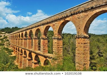 Roman aqueduct in Tarragona, Spain  Stock photo © Nobilior
