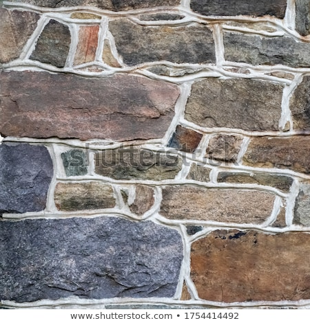 ストックフォト: 石 · フィールド · ツリー · 立って · だけ · 秋