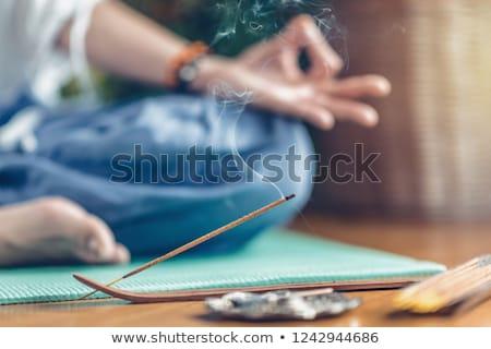 Incienso fragante palo terapia espiritual relajación Foto stock © ShawnHempel