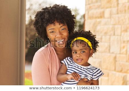 retrato · madre · pequeño · hija · mujer · nino - foto stock © phbcz