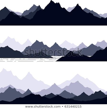 Silhouettes in the Mountains Stock photo © wildnerdpix