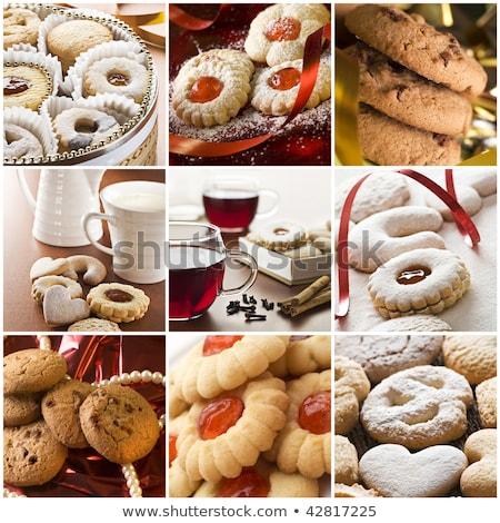 sütik · kollázs · többszörös · képek · fehér · étel - stock fotó © keko64