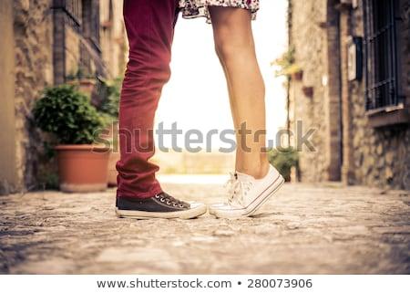 afbeelding · paar · kajakken · meer · samen · vrouw - stockfoto © pressmaster
