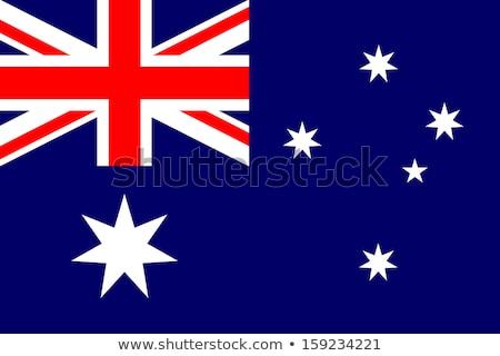 ストックフォト: オーストラリア人 · フラグ · 3dのレンダリング · 反射