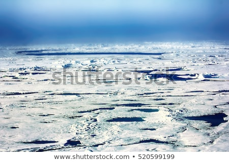 Open Water Arctic Ocean Ice near North Pole, Global Warming Stock photo © Qingwa