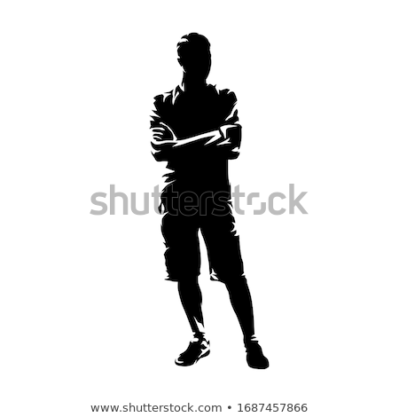 portrait of a handsome man with arms crossed stock photo © alexandrenunes