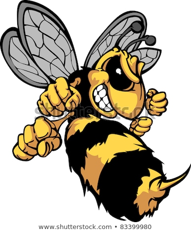 Bee Hornet Cartoon Vector Image Stock photo © chromaco