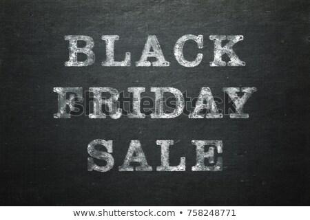 休日 · 販売 · 書かれた · 黒板 · チョーク · 黒 - ストックフォト © bbbar