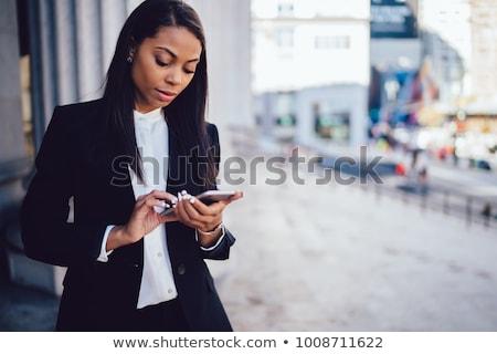 empresária · mulher · telefone · trabalhar · terno · trabalhando - foto stock © phbcz