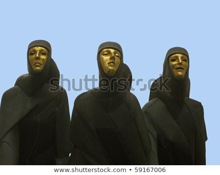 три Вильнюс статуя театра Литва здании Сток-фото © johnnychaos
