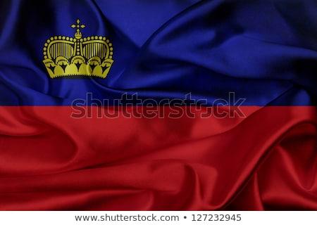 Grunge vlag Liechtenstein oude vintage grunge textuur Stockfoto © HypnoCreative