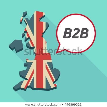 siglas · b2b · frontera · escrito · pizarra · diseno - foto stock © bbbar