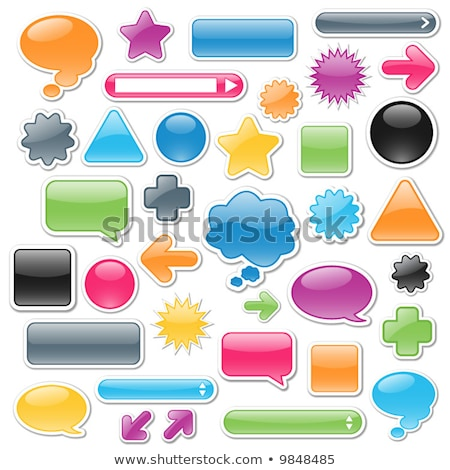 Collection of brightly colored, glossy web elements. Perfect for Stock photo © dacasdo