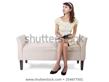 ritratto · giovani · femminile · seduta - foto d'archivio © get4net