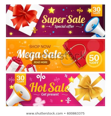 grande · venda · promo · adesivo · círculo · preço - foto stock © orson
