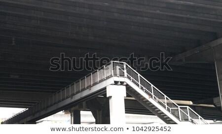 Schody metal pieszy most powyżej autostrada Zdjęcia stock © sirylok