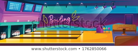 Bowling Game (side view) Stock photo © tilo