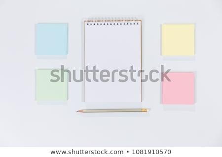 Renk kırpmak kalem dikkat kağıtları Stok fotoğraf © luapvision