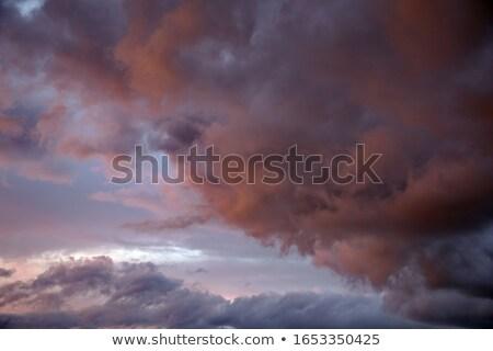 Naplemente esik az eső kék hegyek felhők nap Stock fotó © Witthaya