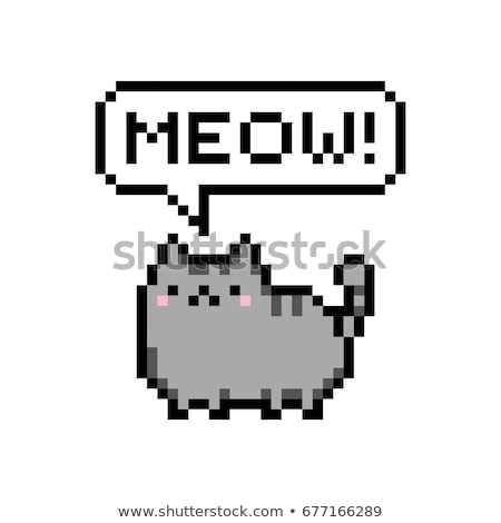 Pixel chaton cute peu chat fond Photo stock © meshaq2000