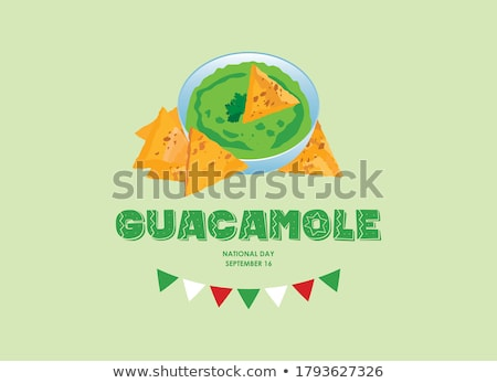 tortilla · chips · placa · blanco - foto stock © m-studio