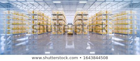 Magazijn zijaanzicht business fabriek industriële Stockfoto © JohanH