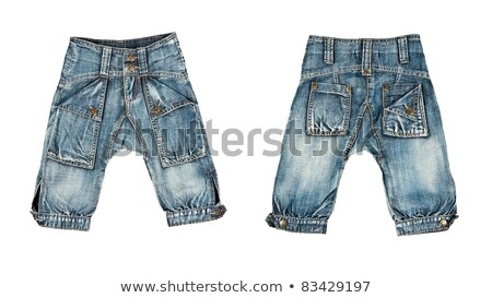 A collage made up of two pairs of trendy jeans for children Stock photo © RuslanOmega