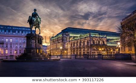 Vienna · notte · Austria · panoramica · view · strada - foto d'archivio © johny007pan