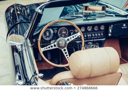 Retro klassiek auto interieur oude geïsoleerd Stockfoto © johny007pan