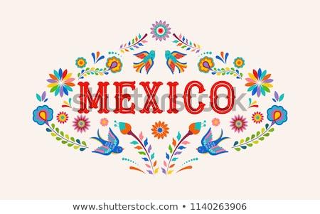 mexique · tampon · résumé · bleu · caoutchouc · mexican - photo stock © perysty
