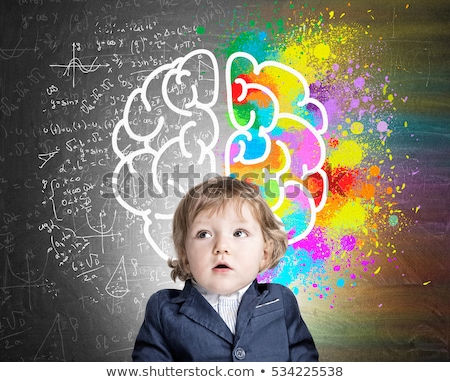 Smart boy confused with the formulas. Stock photo © Sylverarts