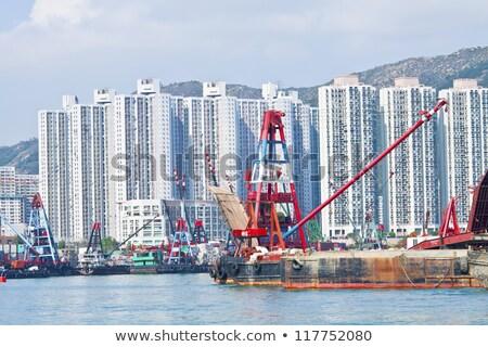 Hong Kong apartamento blocos costa escritório edifício Foto stock © kawing921