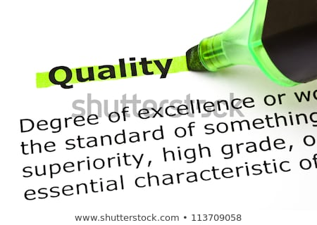 Quality highlighted in green Stock photo © ivelin