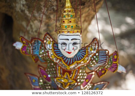 Marionnette angkor Cambodge vue bâtiment nature Photo stock © bbbar