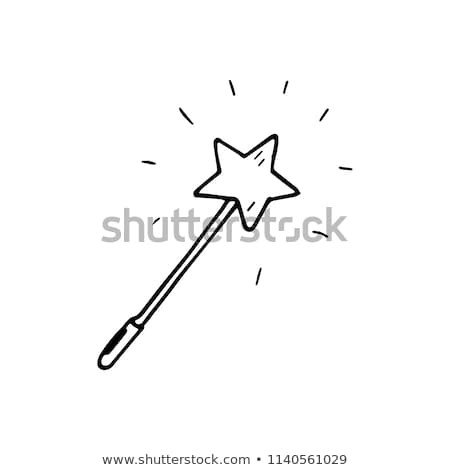 Magic wand with magic stars on white Stock photo © m_pavlov
