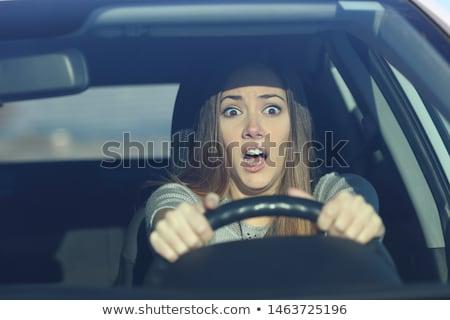 mad · bestuurder · auto · gezicht · man · grappig - stockfoto © rtimages