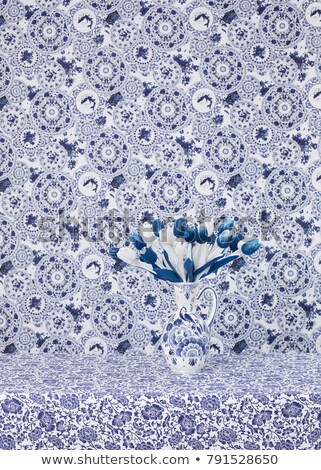 красочный · голландский · тюльпаны · белый · цветок · красоту - Сток-фото © ivonnewierink
