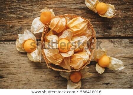 新鮮な · イチゴ · ジューシー · 食品 · 背景 · 緑 - ストックフォト © microolga