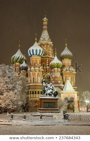 stbasil cathedral moscow russia stock photo © ptichka