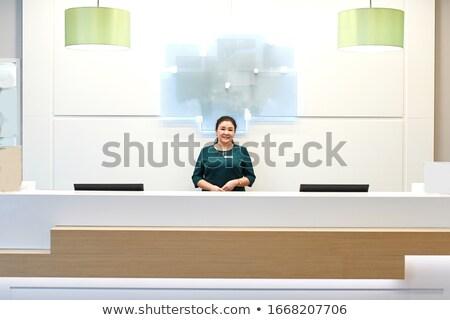 üzlet · hölgy · szemüveg · portré · csinos · üzletasszony - stock fotó © stockyimages