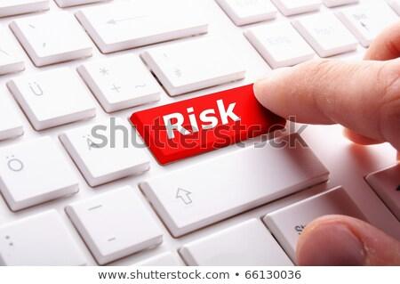 Foto d'archivio: Crisis Risk Management Key Showing Business Insurance Concept