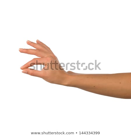 hand conveying the message of something small Stock photo © ra2studio