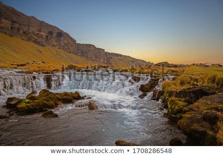 pequeño · cascada · Islandia · rápido · río · rock - foto stock © tomasz_parys