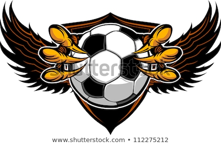 Soccer Ball With Eagle Talons Vector Image Stock foto © ChromaCo