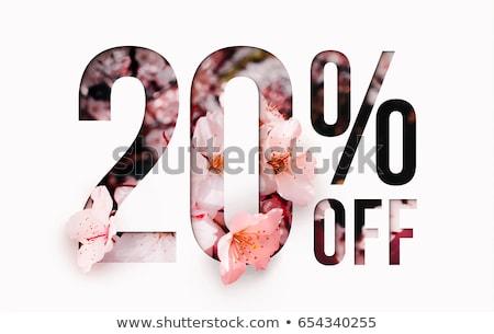 20 · pourcentage · vente · rouge · bannière - photo stock © marinini