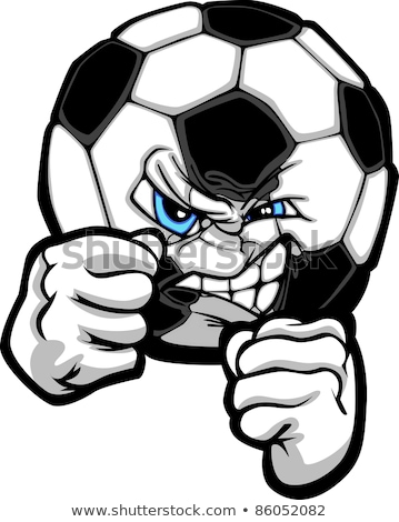 Fighting Soccer Ball Vector Illustration Foto stock © ChromaCo