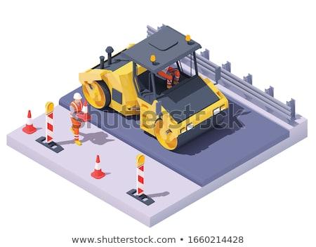 Compacting Man Stok fotoğraf © tele52