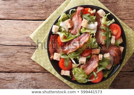 saláta · ázsiai · stílus · füstölt · tyúk · uborkák - stock fotó © zmkstudio